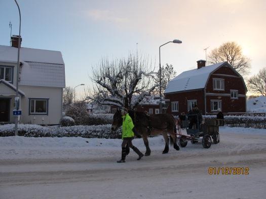Häst och vagn! :D