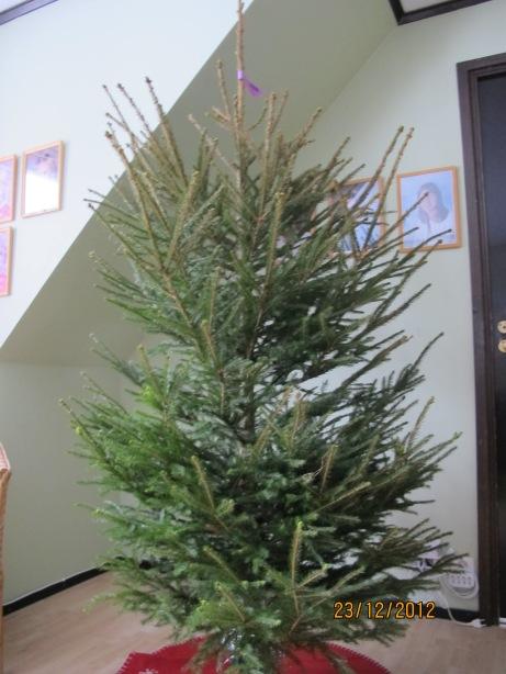 Våran julgran från igår eftermiddag