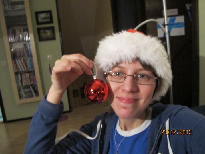 Jag med julkulan!