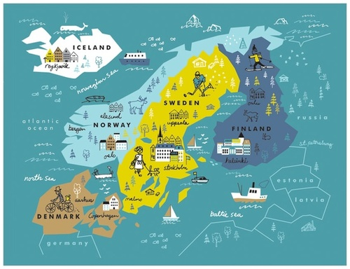 Scandinavia map