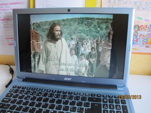 Kollade på Jesus-filmen en liten stund :)