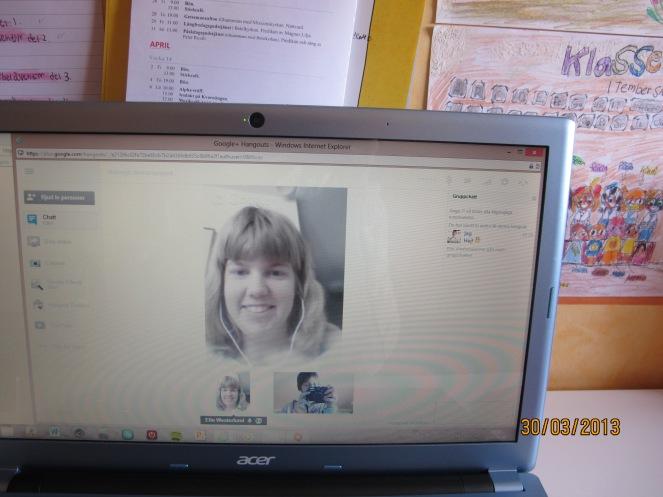 Elin o jag pratade via Hangouts på Google +