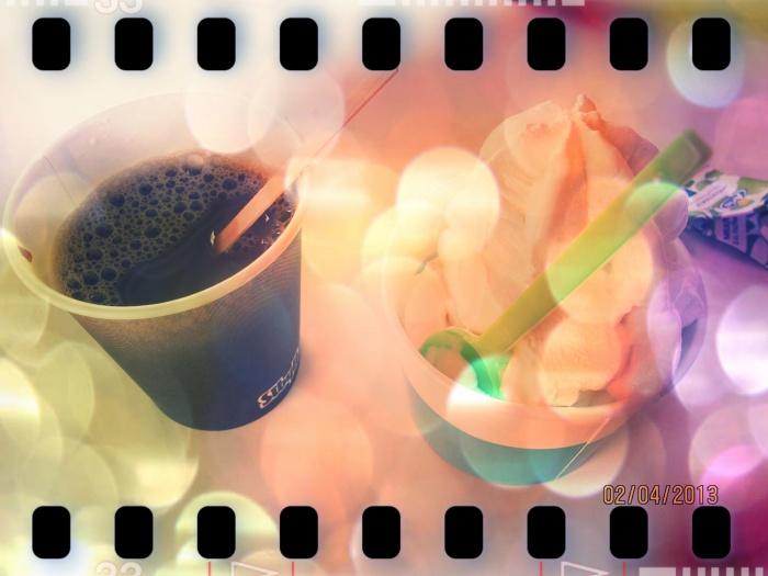 kaffe och glass på  sibylla