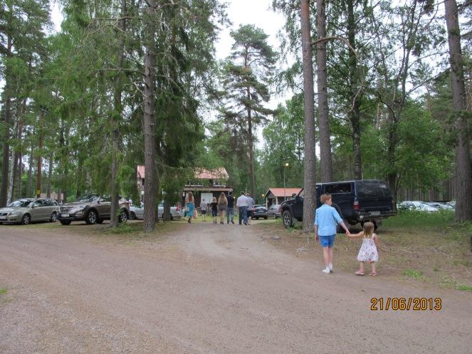På kvällen åkte vi ut till Älvåsa