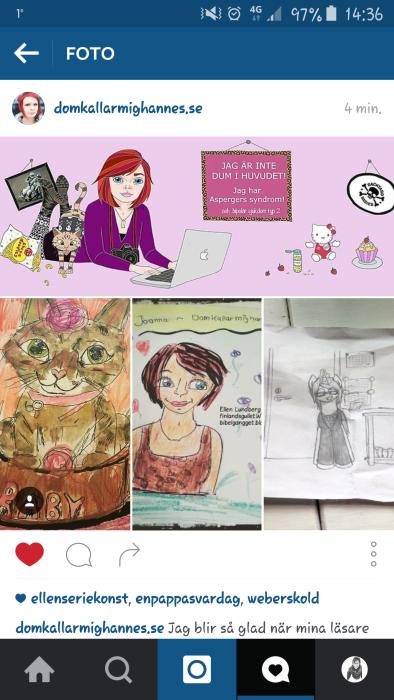 Joanna la upp mina målningar på sin blogg,fb o instagram
